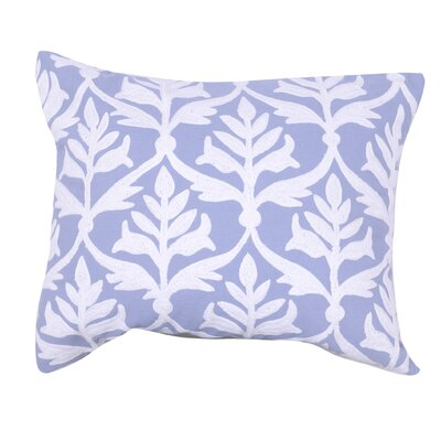 Kennelly Embroidered Lumbar Pillow Color: Blue