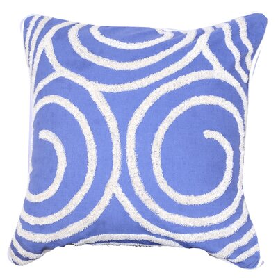 Kensington Embroidered Throw Pillow (Set of 2) Color: Blue