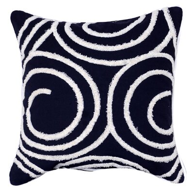 Kensington Embroidered Throw Pillow (Set of 2) Color: Black