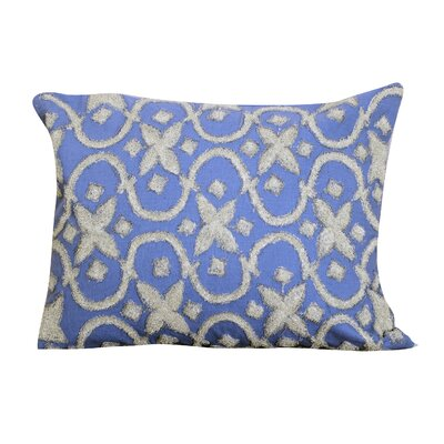 Laplante Embroidered Lumbar Pillow Color: Blue