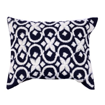 Laplante Embroidered Lumbar Pillow Color: Black