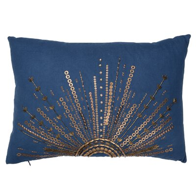 Haffner Cotton Canvas Lumbar Pillow Color: Blue