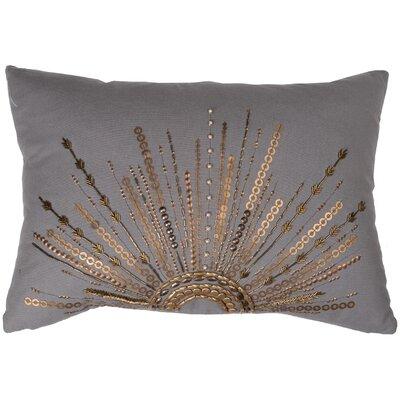 Haffner Cotton Canvas Lumbar Pillow Color: Gray