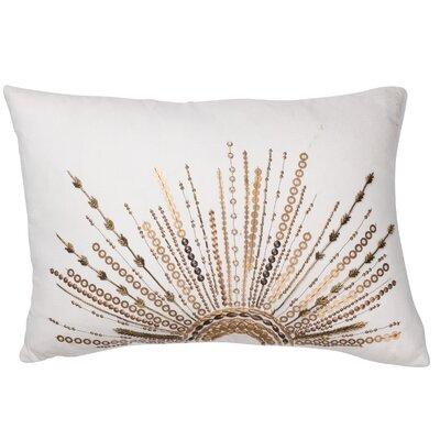 Haffner Cotton Canvas Lumbar Pillow Color: White