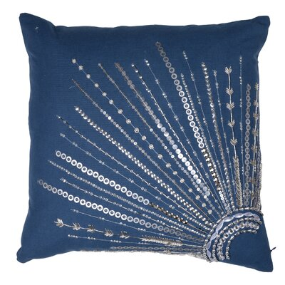 Haffner Cotton Canvas Throw Pillow Color: Blue