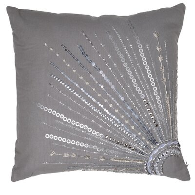 Haffner Cotton Canvas Throw Pillow Color: Gray