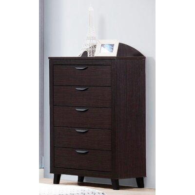 Copeland 5 Drawer Chest Color: Black