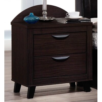 Copeland 2 Drawer Nightstand Color: Black