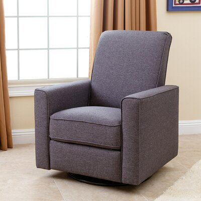 Coello Nursery Swivel Glider Recliner Upholstery: Grey