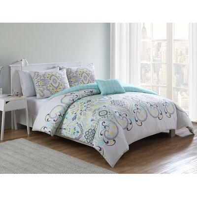 Halvorson 4 Piece Full/Queen Comforter Set