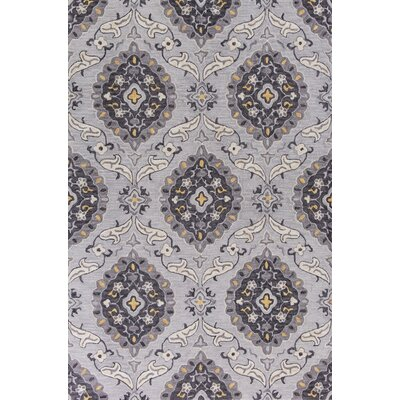 Guillory Hand-Hooked Gray/Yellow Area Rug Rug Size: Rectangle 23 x 39