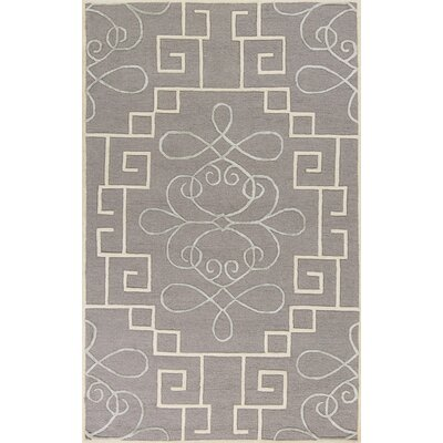 Haggerty Hand-Tufted Gray/Cream Area Rug Rug Size: 23 x 39