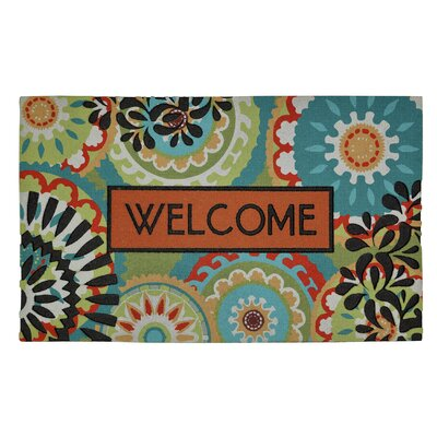 Gullette Bright Aztec Medallion Doormat