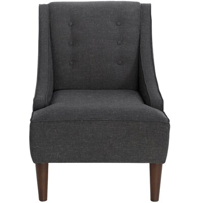 Taos Button Swoop Slipper Chair Upholstery: Bayside Graphite