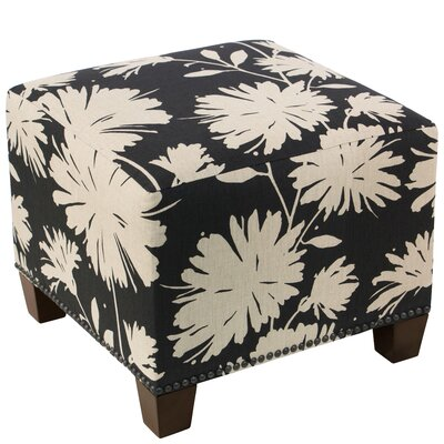 Clowers Square Nail Button Ottoman