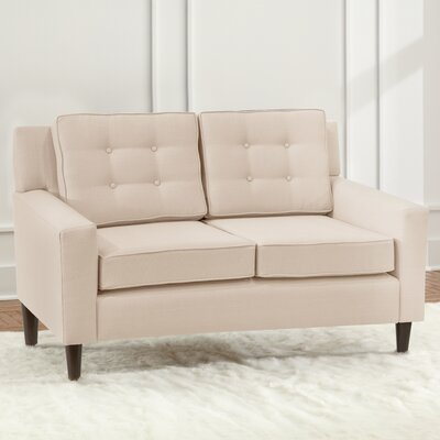 Taos Loveseat Upholstery Color: Ivory