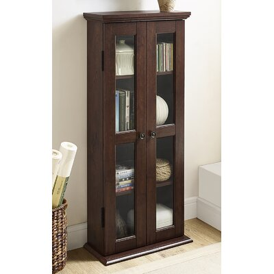 Double Doors Wood Multimedia Cabinet Finish: Brown