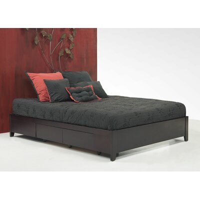 Keevan Traditional Storage Platform Bed