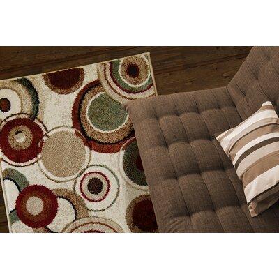 Collinsworth Earthtoned Circles 3 Piece Rug Set