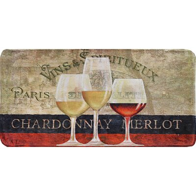 Colfax Wine Trio Kitchen Mat