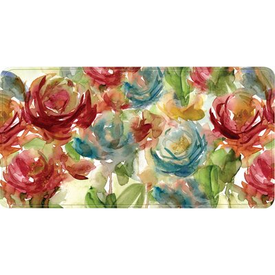Colfax Watercolor Flower Kitchen Mat