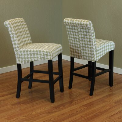 Cogdell 26 inch Bar Stool Color: Moss Green
