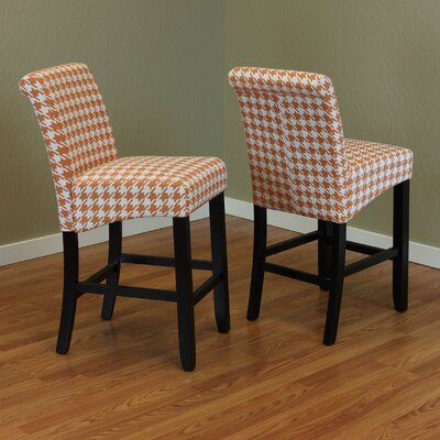 Gauthier 26 Bar Stool Color: Tangerine
