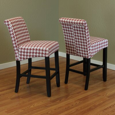 Gauthier 26 Bar Stool Color: Red