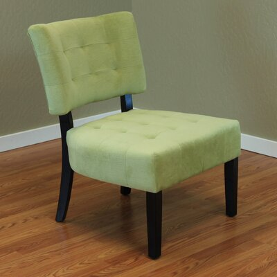 Coggeshall Upholstered Slipper Chair Color: Green