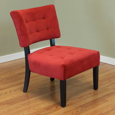 Coggeshall Upholstered Slipper Chair Color: Red