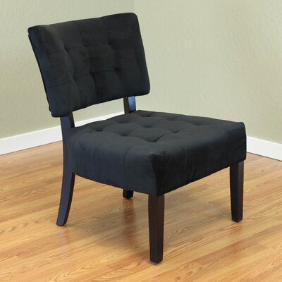 Coggeshall Upholstered Slipper Chair Color: Black