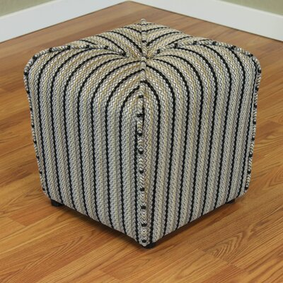 Coggins Cube Ottoman Color: Black