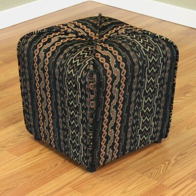 Coghlan Upholstered Ottoman Color: Black