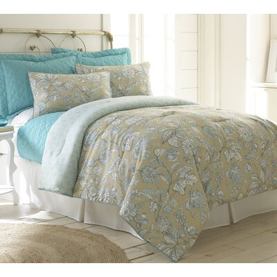 Cowden 6 Piece Comforter & Coverlet Set Size: Queen