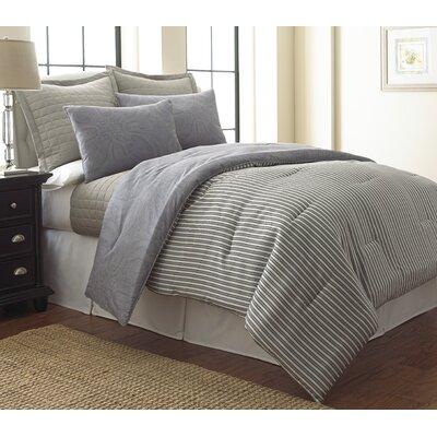 Cowen Paisley 6 Piece Reversible Comforter Set Size: Queen
