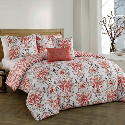 Craine 5 Piece Comforter Set Color: Spice, Size: Queen