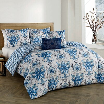 Craine 5 Piece Comforter Set Color: Blue, Size: Queen