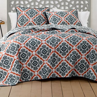 Darden 3 Piece Quilt Set Size: Queen, Color: Spice