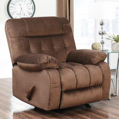 Dashiell Rocker Recliner Upholstery: Brown