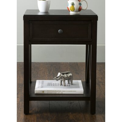 Laurel End Table With Storage� Color: Brown