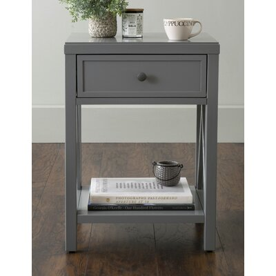 Laurel End Table Finish: Gray