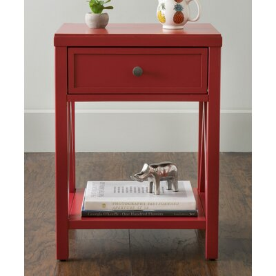 Laurel End Table Finish: Red