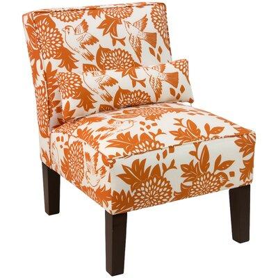 Thurston Slipper Chair Upholstery: Garden Bird Orange OGA