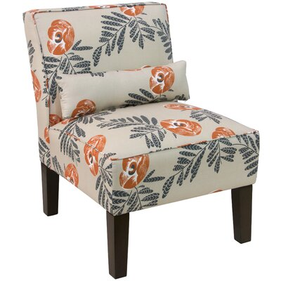 Thurston Slipper Chair Upholstery: Mod Floral Orange OGA