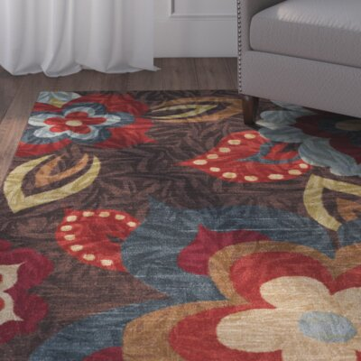 Empyrean Brown/Red Area Rug Rug Size: Rectangle 76 x 10