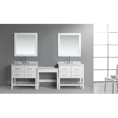 Middletown 102 Double Bathroom Vanity Set Base Finish: White