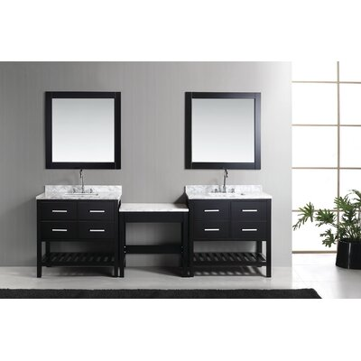 Halcomb 102 Double Bathroom Vanity Set Base Finish: Espresso