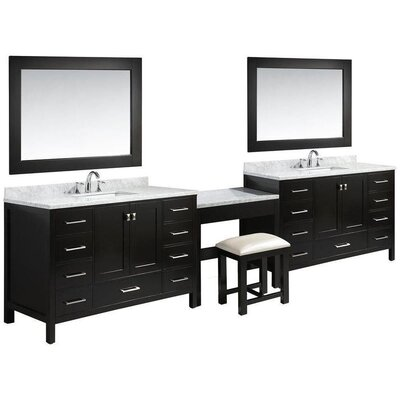 Middletown 84 Double Bathroom Vanity Set with Mirror