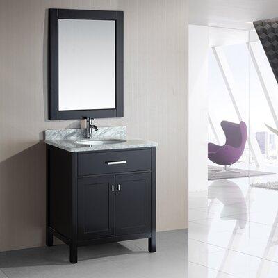 Halcomb 30 Single Bathroom Vanity Set with Mirror Base Finish: Espresso