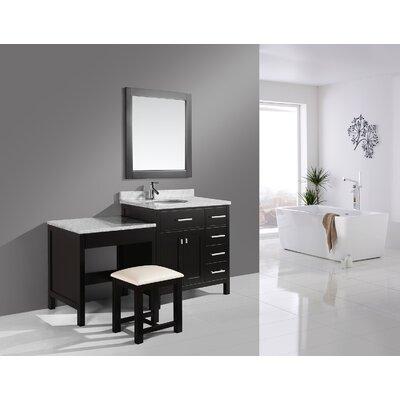 Halcomb 66 Single Bathroom Vanity Set Base Finish: Espresso